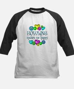 Bowling Happiness Kids Baseball Jersey