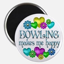 """Bowling Happiness 2.25"""" Magnet (10 pack)"""