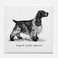 English Cocker Spaniel Tile Coaster