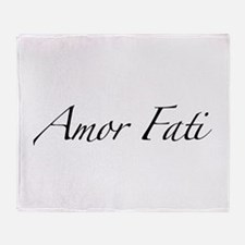 Amor Fati Throw Blanket
