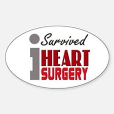 Heart Surgery Survivor Sticker (Oval)