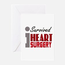 Heart Surgery Survivor Greeting Cards (Pk of 10)