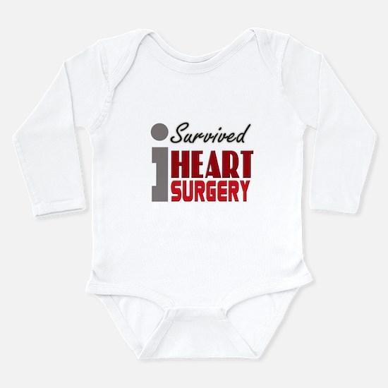 Heart Surgery Survivor Long Sleeve Infant Bodysuit