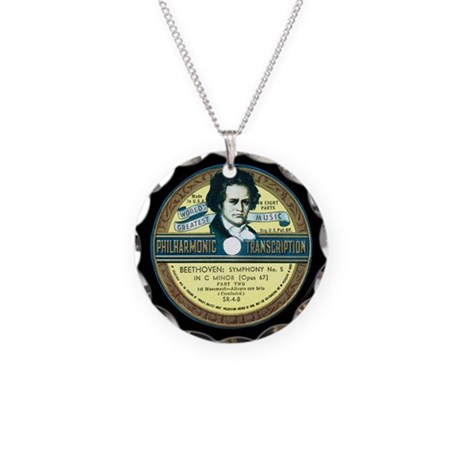 Beethoven Necklace Circle Charm