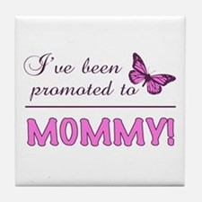 Promoted To Mommy Tile Coaster