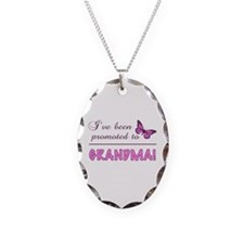 Promoted To Grandma Necklace Oval Charm