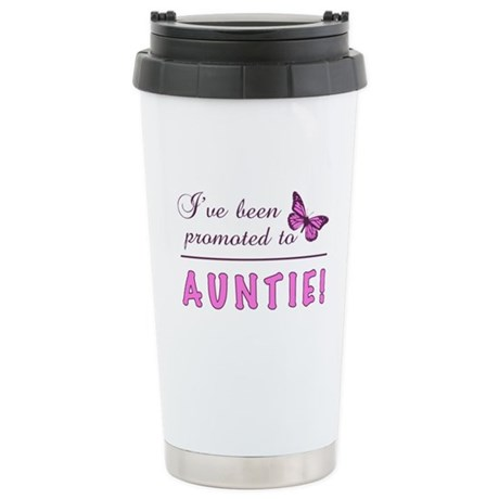 Promoted To Auntie Stainless Steel Travel Mug