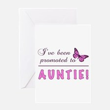 Promoted To Auntie Greeting Card