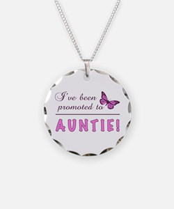 Promoted To Auntie Necklace Circle Charm
