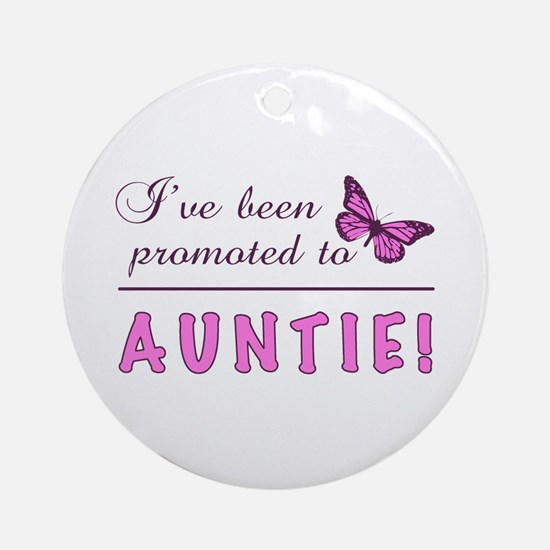 Promoted To Auntie Ornament (Round)
