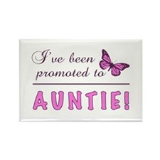 Promoted To Auntie Rectangle Magnet