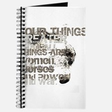 Four Things Greater ... Journal