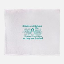 Children Behave As they Are T Throw Blanket