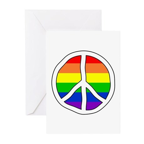 LGBT Rights & Pride Rainbow - Greeting Cards (Pk o