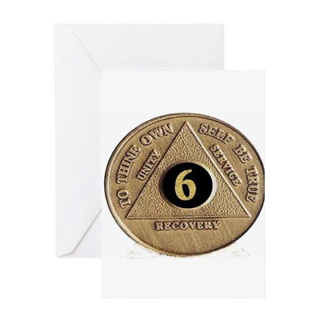 6 YEAR COIN Greeting Card