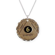 6 YEAR COIN Necklace Circle Charm