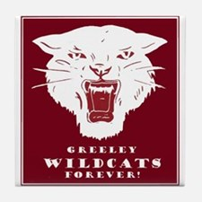Greeley Wildcats Forever! Tile Coaster