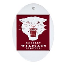 Greeley Wildcats Forever! Ornament (Oval)