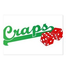 I Love Craps Postcards (Package of 8)