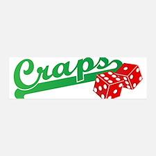I Love Craps 42x14 Wall Peel