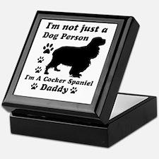 Cocker Spaniel daddy Keepsake Box