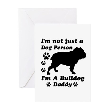 Bulldog daddy Greeting Card