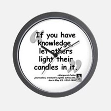 Fuller Light Quote Wall Clock