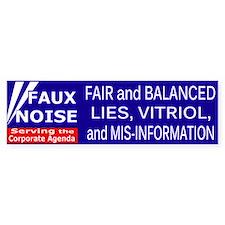 Faux Noise Fair Balanced bumper sticker Bumper Sti