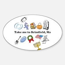 Unique Flea markets Sticker (Oval)