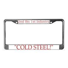 2nd Bn 1st Inf License Plate Frame