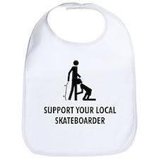 support your local skateboard Bib