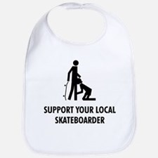 support your local skateboard Bib