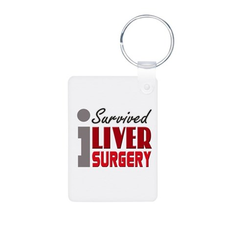 Liver Surgery Survivor Aluminum Photo Keychain