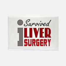 Liver Surgery Survivor Rectangle Magnet