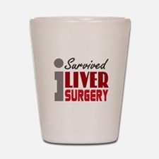 Liver Surgery Survivor Shot Glass