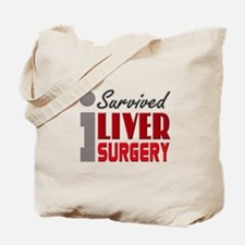 Liver Surgery Survivor Tote Bag