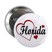 """Love Florida Hearts 2.25"""" Button (100 pack)"""