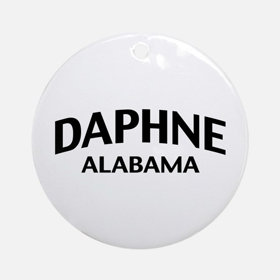 Daphne Alabama Ornament (Round)