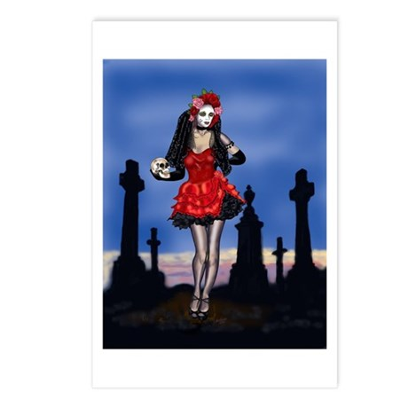 Dia de los Muertos Pin-up Postcards (Package of 8)
