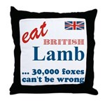 Slam in the Lamb Throw Pillow