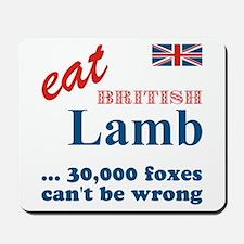 Slam in the Lamb Mousepad