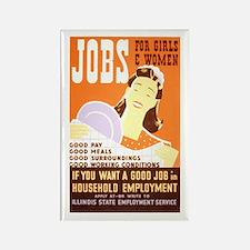 WPA Jobs for Women Rectangle Magnet
