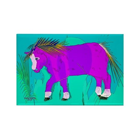 The pink pony Rectangle Magnet