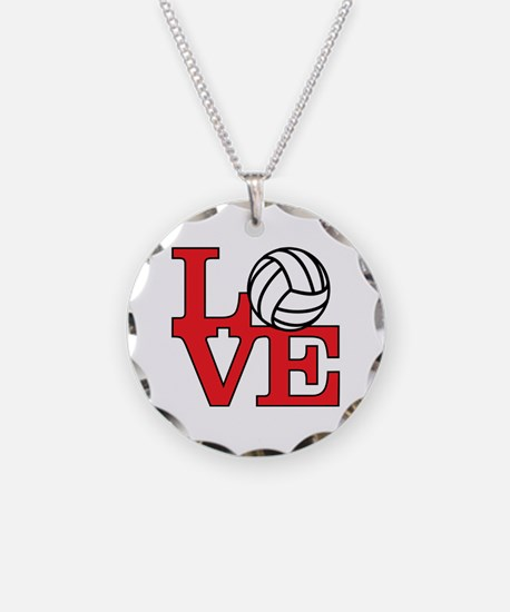 Volleyball Love - Red Necklace