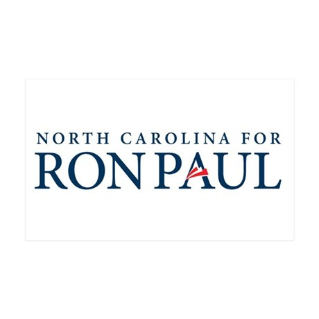 Ron Paul North Carolina 38.5 x 24.5 Wall Peel