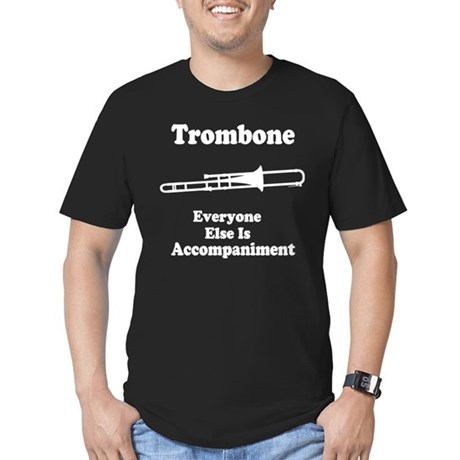 Trombone Gift Music Joke Men's Fitted T-Shirt (dar