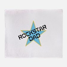 Rockstar Dad Throw Blanket
