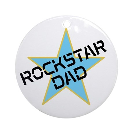 Rockstar Dad Ornament (Round)