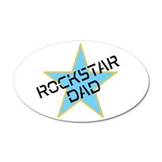 Rockstar Dad 22x14 Oval Wall Peel