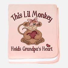 Holds grandpas heart baby blanket